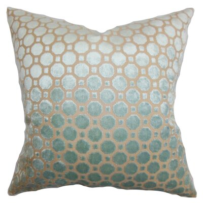 Maeve Geometric Bedding Sham Size: Euro, Color: Blue