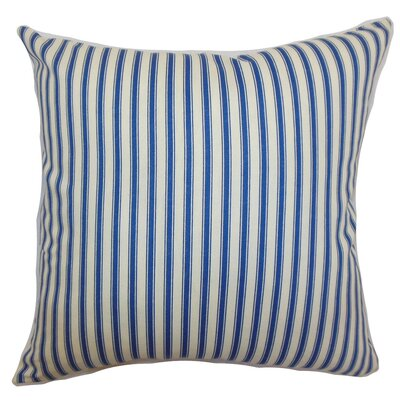 "The Pillow Collection Xander Stripes Cotton Pillow - Size: 18""x18"""