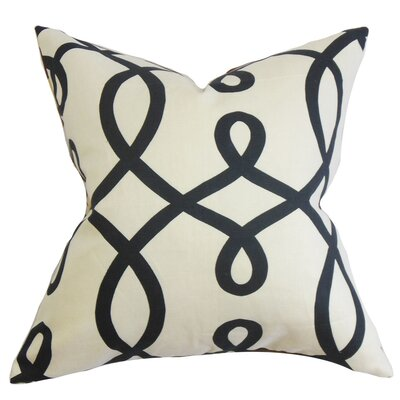 Chamblin Geometric Throw Pillow Color: Jet, Size: 24 x 24