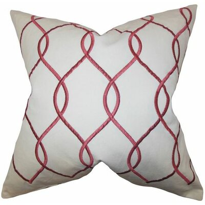 Jolo Geometric Linen Throw Pillow Color: Ruby, Size: 18 x 18