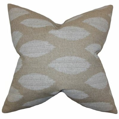 Juliaca Ikat Throw Pillow Color: Natural, Size: 24 H x 24 W
