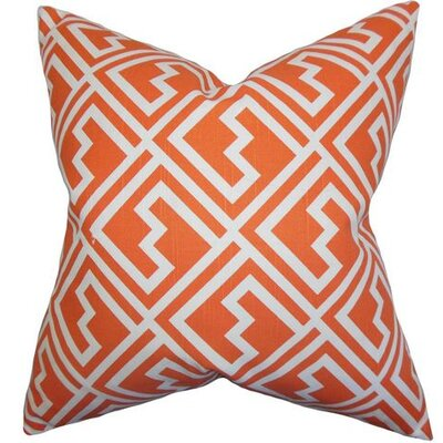 Ragnhild Geometric Cotton Throw Pillow Color: Tangerine, Size: 22 x 22