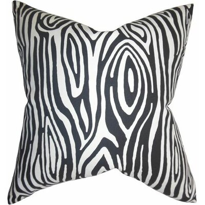 Thirza Swirls Cotton Throw Pillow Color: Black, Size: 22 x 22