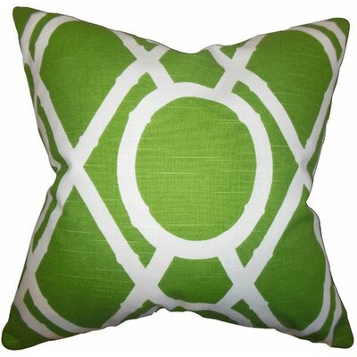 Whit Geometric Cotton Throw Pillow Color: Green, Size: 24 x 24