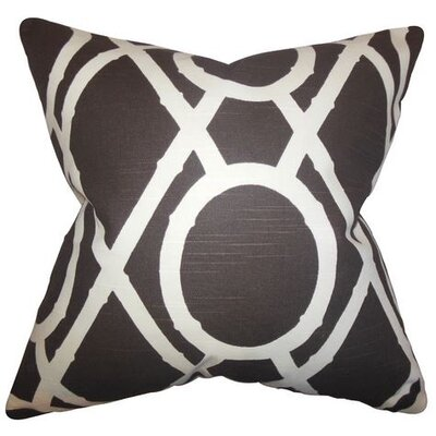 Whit Geometric Cotton Throw Pillow Color: Terrain, Size: 18 x 18