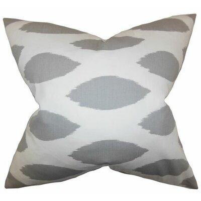 Juliaca Ikat Throw Pillow Color: White Gray, Size: 18 H x 18 W