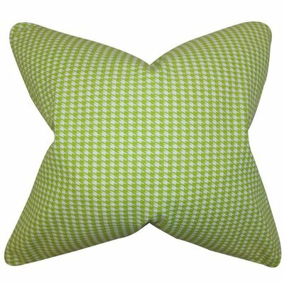 Lviv Cotton Throw Pillow Color: Green, Size: 18 x 18