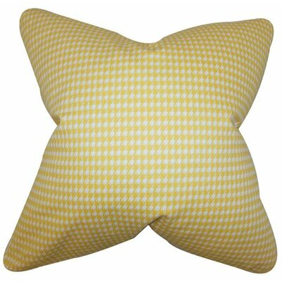 Lviv Cotton Throw Pillow Color: Yellow, Size: 24 x 24