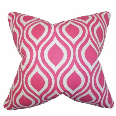 Poplar Geometric Cotton Throw Pillow Color: Candy Pink, Size: 22 x 22
