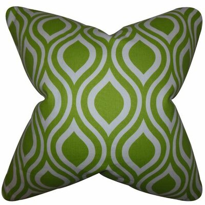 Poplar Geometric Cotton Throw Pillow Color: Chartreuse, Size: 18 x 18