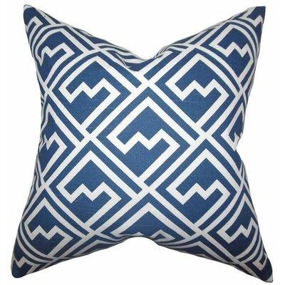 Ragnhild Geometric Cotton Throw Pillow Color: Blue White, Size: 20 x 20