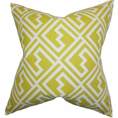 Ragnhild Geometric Cotton Throw Pillow Color: Green, Size: 18 x 18
