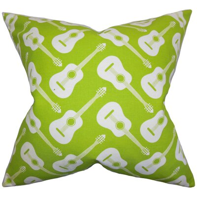 Roxie Geometric Cotton Throw Pillow Color: Chartreuse, Size: 22 x 22