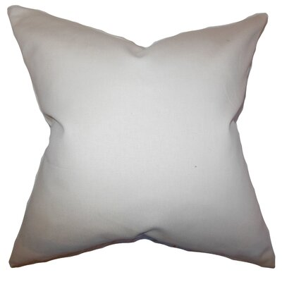 Mabel Solid Cotton Throw Pillow Color: Khaki, Size: 18 x 18