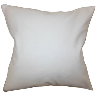 Mabel Solid Cotton Throw Pillow Color: White, Size: 22 x 22
