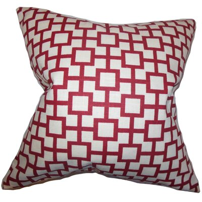 Jakayla Geometric Throw Pillow Color: Lacquer, Size: 18 x 18