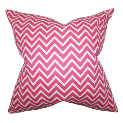Sula Zigzag Cotton Throw Pillow Color: Candy Pink, Size: 24 x 24