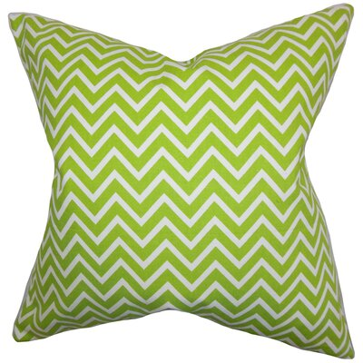 Sula Zigzag Cotton Throw Pillow Color: Chartreuse, Size: 18