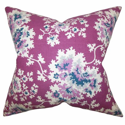 Danique Floral Throw Pillow Color: Purple, Size: 18 x 18