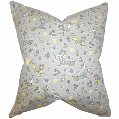 Laras Floral Cotton Throw Pillow Size: 22 x 22