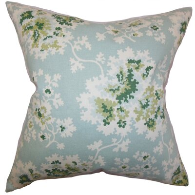 Danique Floral Throw Pillow Color: Sea Green, Size: 18 x 18
