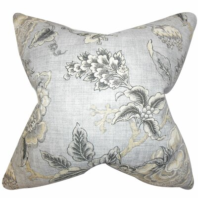 Immy Floral Throw Pillow Color: Gray, Size: 24 x 24