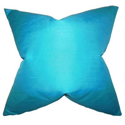 Baldwin Solid Throw Pillow Color: Turquoise, Size: 18 x 18