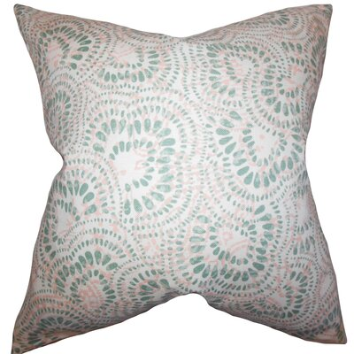Glynis Floral Cotton Throw Pillow Color: Pink Green, Size: 22 x 22