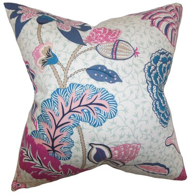 Ahna Floral Throw Pillow Color: Pink, Size: 18 x 18