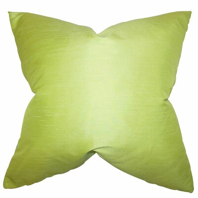 Baldwin Solid Throw Pillow Color: Wasabi, Size: 18 x 18