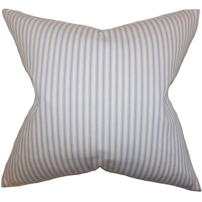 Ferebee Striped Cotton Throw Pillow Color: Purple, Size: 22 H x 22 W