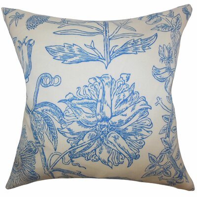Neola Floral Throw Pillow Color: Blue, Size: 18 x 18