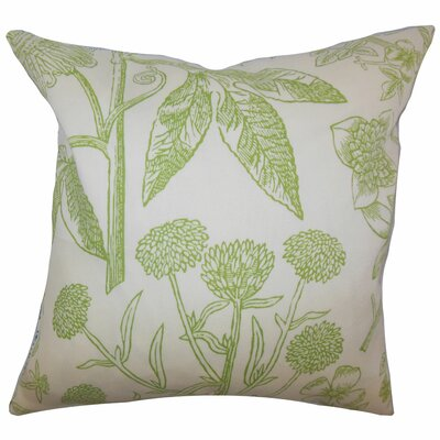 Neola Floral Throw Pillow Cover Color: Green