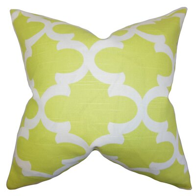Titian Geometric Bedding Sham Size: Queen, Color: Green