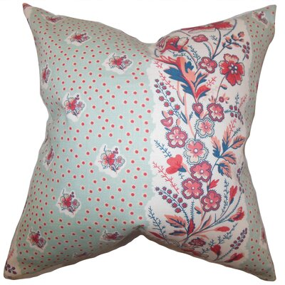 Elske Floral Throw Pillow Color: Sea Green, Size: 18 x 18
