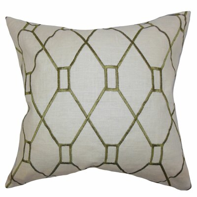 Nevaeh Geometric Throw Pillow Color: Green, Size: 18 x 18