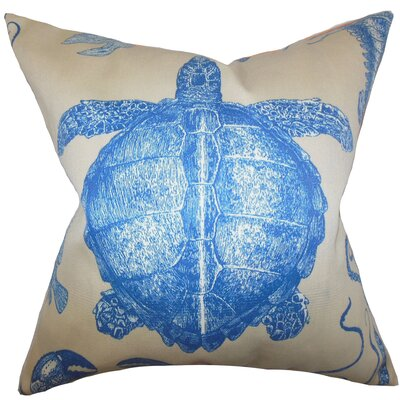 Aeliena Coastal Throw Pillow Color: Blue, Size: 24 x 24