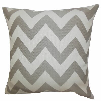 Diahann Chevron Throw Pillow Color: Gray, Size: 18 x 18