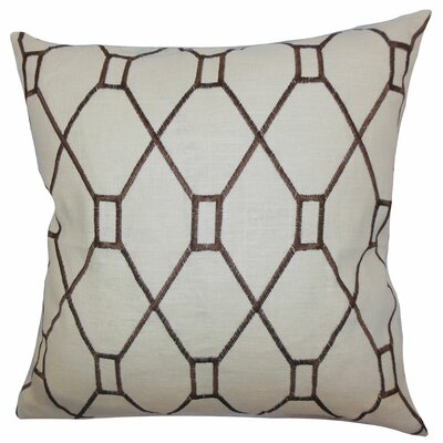 Nevaeh Geometric Throw Pillow Color: Brown, Size: 18 x 18