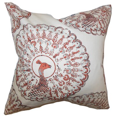 Ieesha Animal Print Throw Pillow Color: Coral, Size: 24 x 24