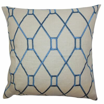 Nevaeh Geometric Bedding Sham Size: Queen, Color: Blue
