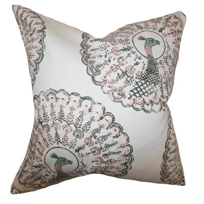 Ieesha Animal Print Throw Pillow Color: Pink Green, Size: 18 x 18