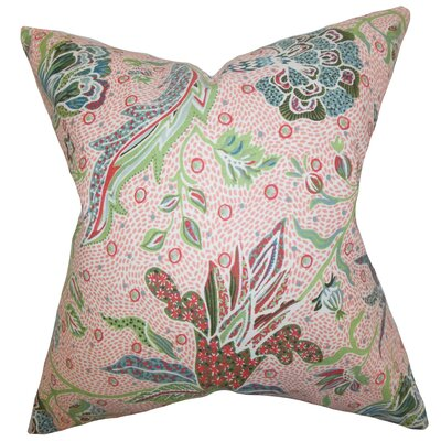 Fflur Floral Throw Pillow Color: Coral, Size: 22 x 22