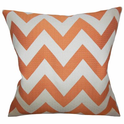 Diahann Chevron Throw Pillow Color: Orange, Size: 22 x 22