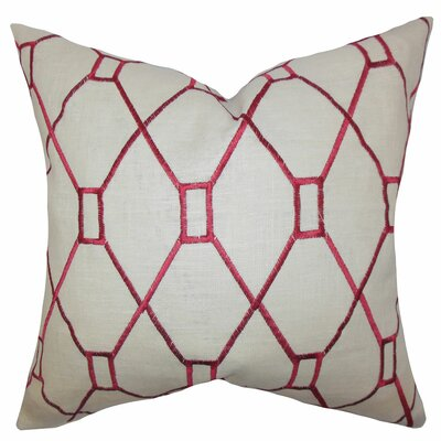 Nevaeh Geometric Throw Pillow Color: Red, Size: 22 x 22