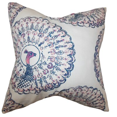 Ieesha Animal Print Throw Pillow Color: Sapphire, Size: 18 x 18