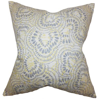Glynis Floral Cotton Throw Pillow Color: Jonquil, Size: 18 x 18