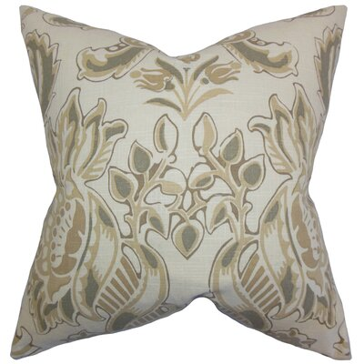 Kelila Floral Linen Throw Pillow Color: Sandalwood, Size: 20 x 20