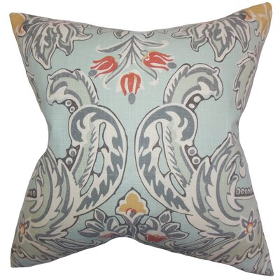 Kelila Floral Linen Throw Pillow Color: Spray, Size: 22 x 22