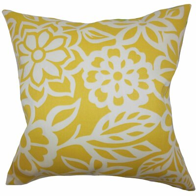 Ozara Floral Throw Pillow Color: Yellow, Size: 22 x 22